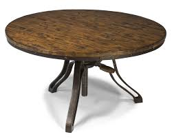Circle Table Industrial Style Round Cocktail Table With Adjustable Height By