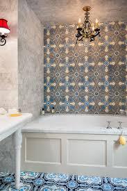 blue mosaic bathroom tiles