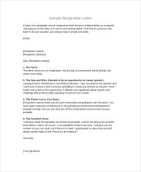 resignation letter format format for resignation letter