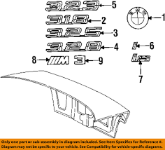 bmw 325i trunk diagram bmw get image about wiring diagram description bmw oem 92 95 325i trunk lid emblem badge plate 51148164924