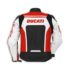 ducati corse leather jacket 14 dainese red black men