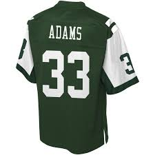 Jamal Jersey Pro Nfl Adams York Jets Line New Player Green Men's