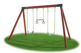 classic swing set hardware kit completed
