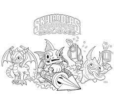 Kleurplaten Skylanders Spyro