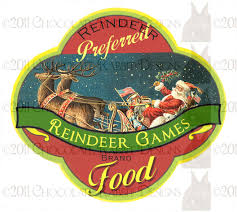 Vintage Food Labels Vintage Christmas Reindeer Food Label Digital Download Printable