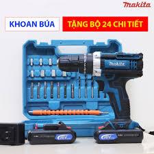 Máy Khoan Bắt Vít Pin Maktia 36V - Đầy đủ bộ 24 phụ kiện đồ nghề - 3 Chức  Năng - Lõi Đồng tại Hà Nội