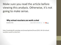 "sample rhetorical analysis sample rhetorical analysis ""why school vouchers are worth a shot"" by katrina trinko 2"