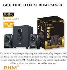 Loa Vi Tính Điện Máy Xanh Công Suất Lớn 2.1 RHM RM240BT. Kết Nối Bluetooth  4.2. Đắm mình thưởng thức những giai điệu âm nhạc bùng nổ sống động với loa  siêu