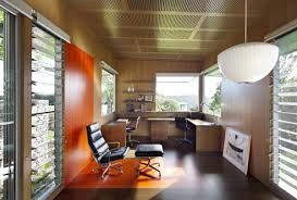 home office interiors. Contemporary Home Office Interior Warm Decoration Interiors