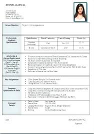 Resume Format Doc For Engineering Students Download