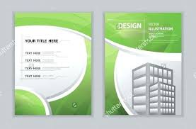 abstract green curve book cover template word