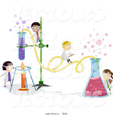 science club clipart clipart kid vector of happy cartoon kids working on a chemistry experiment at