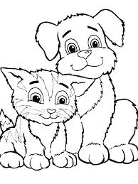 Cute Cats Coloring Pages To Print Cute Cat Coloring Pages Kitty Cat