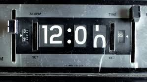 new type trip switch fuse box seamless cg animation all switches stop motion of an old style flip clock during 12 hours hd stock video clip