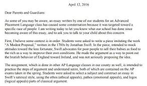 pdf north county high principal s letter to parents about  pdf north county high principal s letter to parents about student s controversial satirical essay capital gazette
