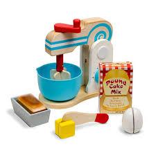 make a cake mixer wooden set