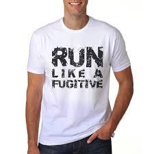 Ilrc Run Like A Fugitive Funny Gift T Shirt For Runners Men