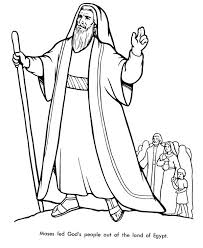 Moses Coloring Pages Baby For School Bible Basket Page Colouring