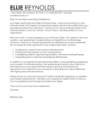 Best Software Testing Cover Letter Examples Livecareer Simple Resume