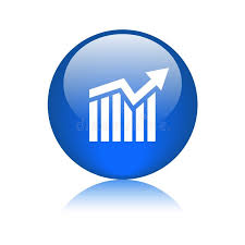 Graph Chart Growth Icon Button Stock Illustration