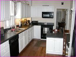kitchen white cabinets black appliances interior exterior