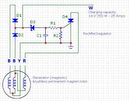 bmw d12 marine diesel rectifier regulator project stator ac output voltage between different wire pairs and rpms