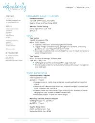 Yoga Resume Free Resume Example And Writing Download