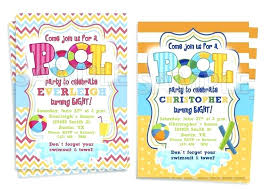 Free Pool Party Invitations Printable Printable Pool Party Invitations Image 0 Childrens