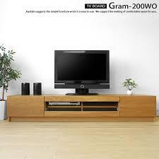 tv board gram 200wo clear glass net limited original setting of the 200cm in width white oak white oak pure materials white oak tree wooden tv stand