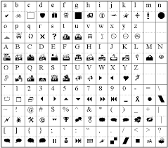 Sample Wingdings Chart Fascinating Symbol Font Samples
