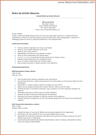 Artist Resume Template Free Resume Example