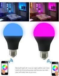 attractive led light bulbs rgb with bluetooth remote control from smartphone app and mood light