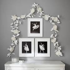 White Paper Flower Garland White Crepe Paper Flower Garland