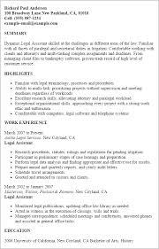 Paralegal Resume Sample Legal Assistant Resume Sample Immigration ...
