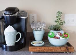 A tray is a foundational piece for your coffee table decor because it anchors the look, creates a zone, and is a super clever way of arranging small objects into an intentional grouping. Diy Coffee Bar Perk Up Your Home Design Bob Vila