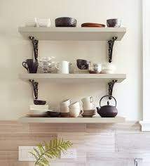 hand made multi purpose wall shelf with metal support set of 3