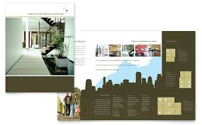Urban Real Estate Brochure Template Design Magnificent Apartment Brochure Design