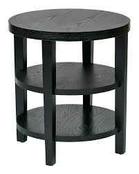 skinny end table office star work smart merge round end table black finish bk skinny table