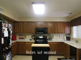 mini kitchen remodel new lighting makes 2017 with replace fluorescent light fixture in picture before