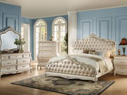 Full Size of Bedroom:amazing White Bedroom Set Queen Acme Q Pcs Chantelle  Rose Gold ...