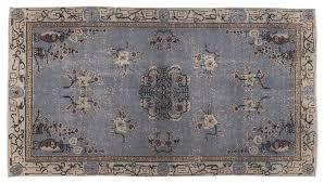turkish blue overdyed rug 1