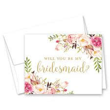 Party Proposal Delectable Pink Floral Bridal Party Proposal Cards Set Of 44 WantItAll