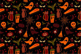 Halloween Pattern Beauteous 48 Halloween Seamless Pattern Graphic Patterns Creative Market