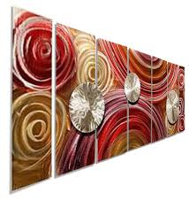 paparazzi modern abstract painting metal wall art home decor by jon allen 68 on red and brown metal wall art with paparazzi modern abstract painting metal wall art home decor by