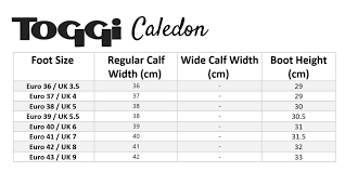 Toggi Boots Size Guide Online For Equine