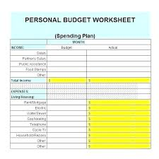 Project On Family Budget For A Month Sample Budget Spreadsheet Project Worksheet Template