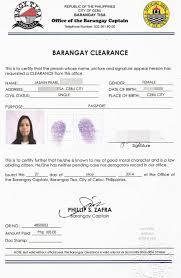 Barangay Certificate Oliveslate