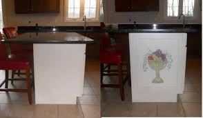 Adding A Decorative Hand Painted Panel To Your Kitchen Island