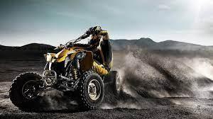 ATVs, Quad, Black background, Bicycle ...