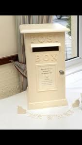 How To Decorate A Wedding Post Box Royal Mail White Wedding Post Box Gold or Silver Hire South 70